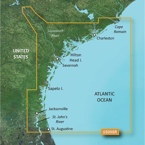 Garmin BlueChart® g3 Vision® HD - VUS008R - Charleston to Jacksonville - microSD™/SD™