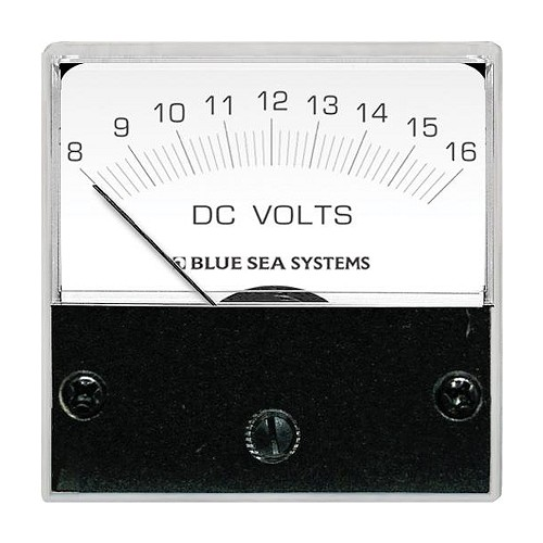 "Blue Sea 8028 DC Analog Micro Voltmeter - 2"" Face, 8-16 Volts DC"