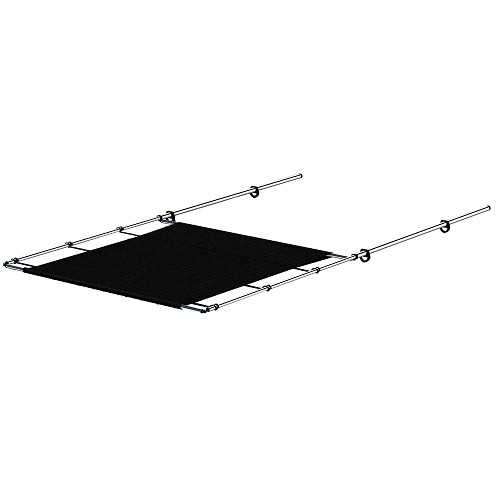 "SureShade PTX Power Shade - Stainless Steel - 63"" Wide - Black"